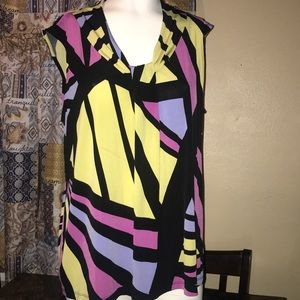 Dana Bushman sleeveless blouse